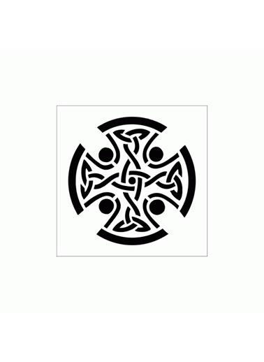 Artikel Celtic 2 Stencil Tasarımı 30 x 30 cm Renkli